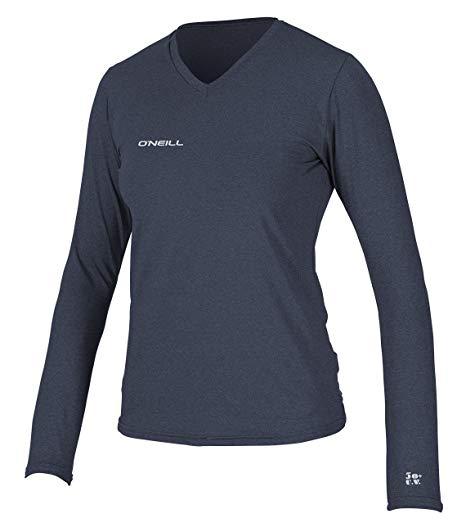 O'Neill Women's Hybrid UPF 50+ Long Sleeve V-Neck Sun Shirt
