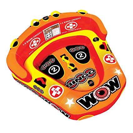 WOW World of Watersports Bingo Inflatable, Secure Cockpit Seating Towable, Front and Back Tow Points