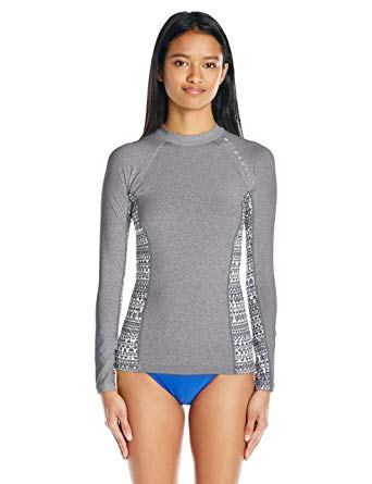 Rip Curl Women's Trestles Long-Sleeve UV Rashguard with Printed Side Panels