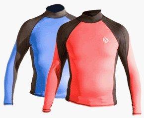 Akona 50+ UV Protection Long Sleeve Rash Guard, Scuba Rash Guard, Dive Rash Guard, Surf Rash Guard, Surfing Rash Guard, Diving Rash Guards