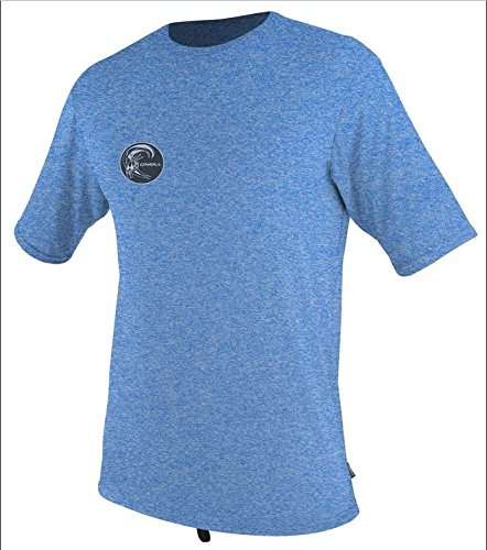 O'Neill Men's UV Sun Protection Hybrid Rash Tee, Medium, Brite Blue Hybrid