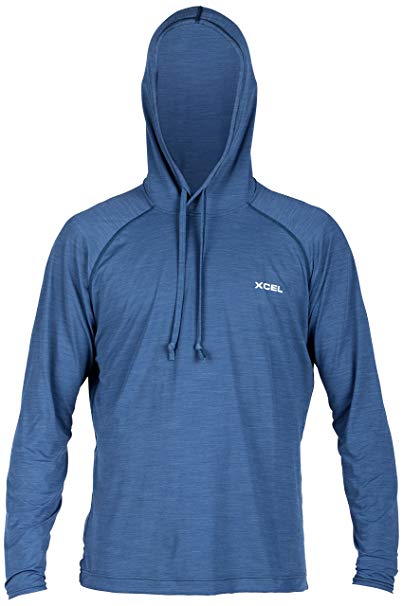 Xcel Jenson 4-Way Series Hooded Pullover L/S UV Wetsuit, Heather Marine Blue